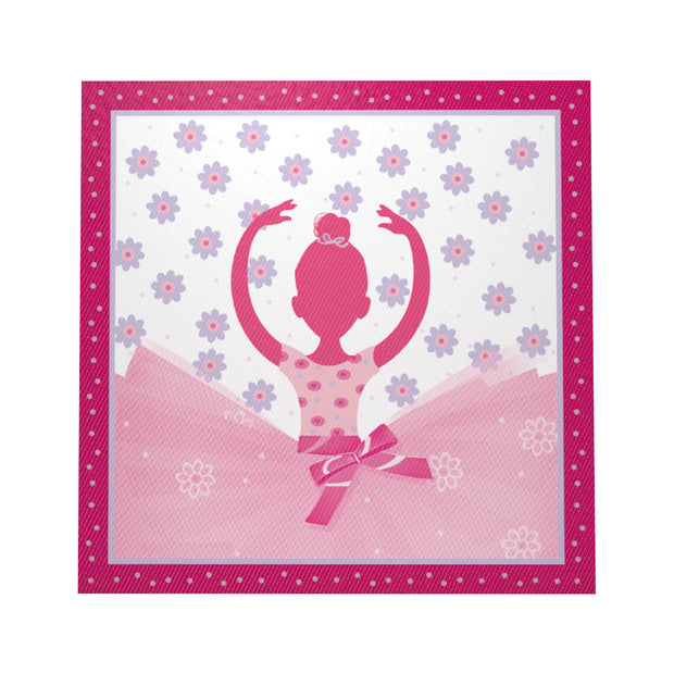 10pcs/lot Lovely Ballet Girl Theme Paper Napkins For Happy Birthday Party Cartoon Napkin Kids Favors Decoration Supplies