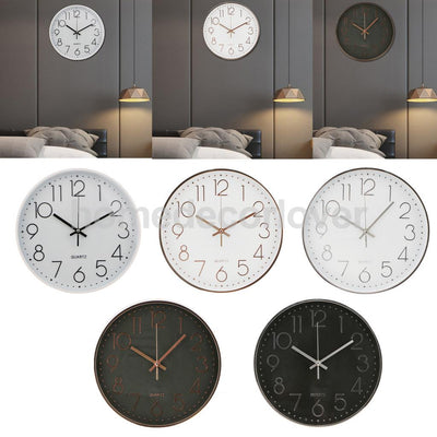 12''/30cm Round Clock Non Ticking Quartz Decorative Wall Clock For Home Decor House Warming Gifts