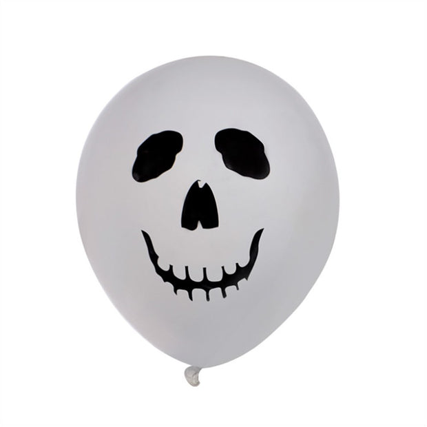 12 Inch Halloween Latex Balloons Skull Ghost Print Halloween Party Decoration 1 Set Or 4 Set Optional
