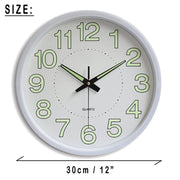 12 Inch Digital Wall Clock Night Clocks Numbers Luminous Modern Design Times Hours Quartz Quiet Mute