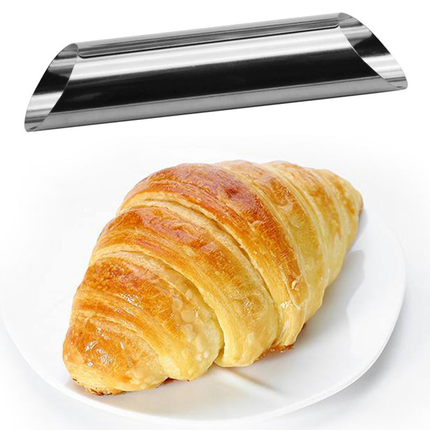 12Pcs/Set DIY Croissants Mold Cannoli Forms Cake Horn Mold Stainless Steel Tubes Shells Cream Horn Mould Pastry Baking Mold