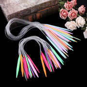 12x Circular Knitting Needle Plastic Crochet Set 40cm 80cm Craft Multicolor Tube Needle