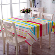 130x180cm Rectangular PVC Table Cloth Waterproof Oilproof Printed Tablecloth Dining Kitchen Table Protector Cover