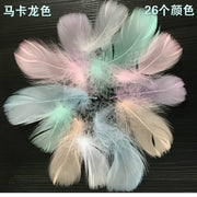 14 Color DIY Floating Feather Stage Animation, Bobo Ball Dream Net Gift Box Decorative Feather