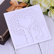 14 Pcs Creative Love Hollow Business Invitation Card Luxury Laser Cutting Wedding Invitation Christmas Party Decoration 7ZXH18