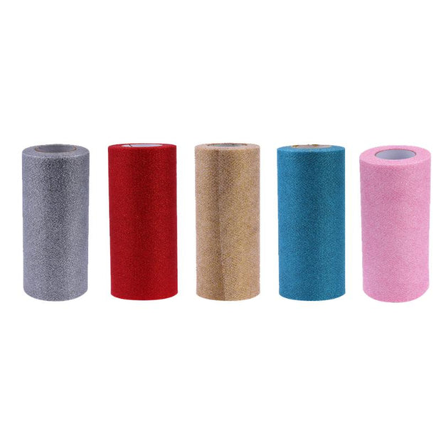 15cm X 25 Yards Glitter Tulle Roll Sequin Event Party Supply Wedding Decor