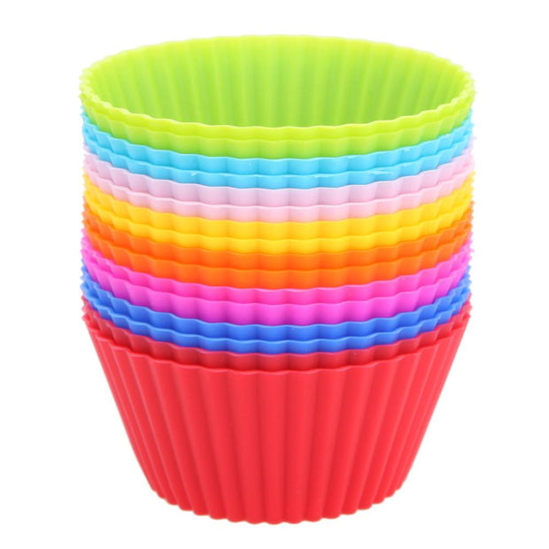 16pcs/lot Silicone Cupcake Liners Mold Muffin Cases Muti Round Shape Cup Cake Tools Bakeware Baking Pastry Tools Cake Mold
