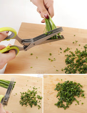 19cm Minced 5 Layers Spices Cook Basil Scissor Shredded Rosemary Scallion Cutter Herb Kitchen Chopped Laver Tool Cut
