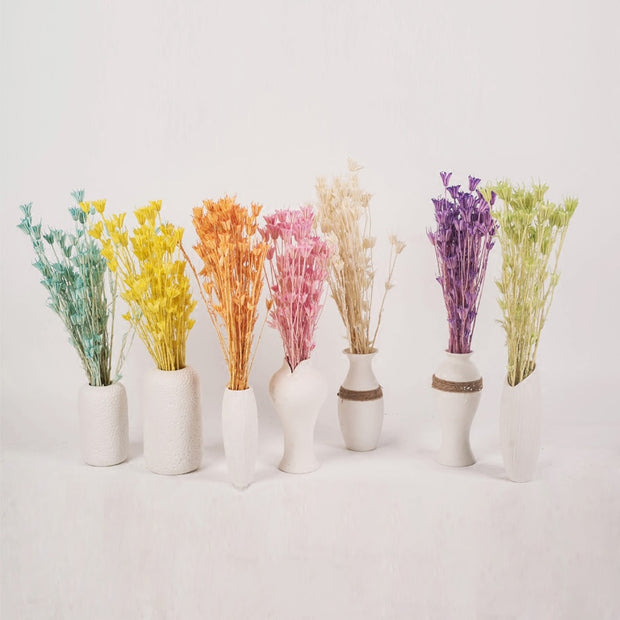 1Bunch(1Bunch=10Pcs) Artificial Handmade Plant Gift Natural Dried Flowers For Home Office Dector For Scrapbooking Handicraft