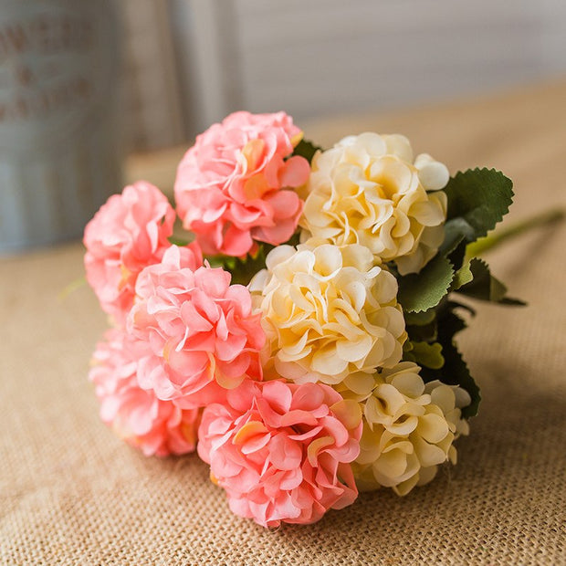 1PC Flower Peony Bouquet 10 Heads Peonies Fake Flowers Home Decor Silk Hydrangeas Artificial Flower For Wedding Decoration