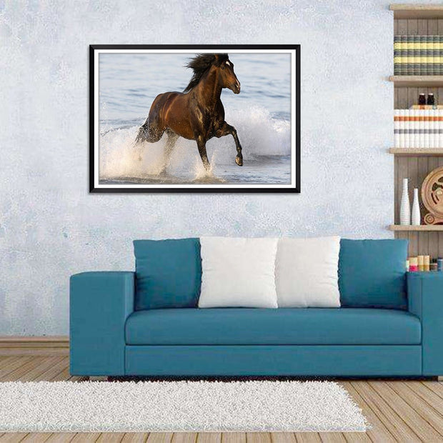 1PC Scenery Animal Oil Painting On Canvas Posters On The Wall Picture Home Decoration No Frame