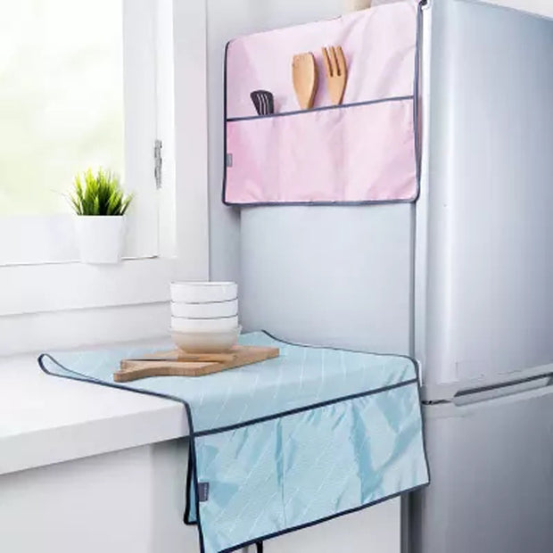 1PC Waterproof Refrigerator Cover Cloth Dust Cover With Storage Bag Oxford Cloth Hanging Bag Home Appliance Top Cover New