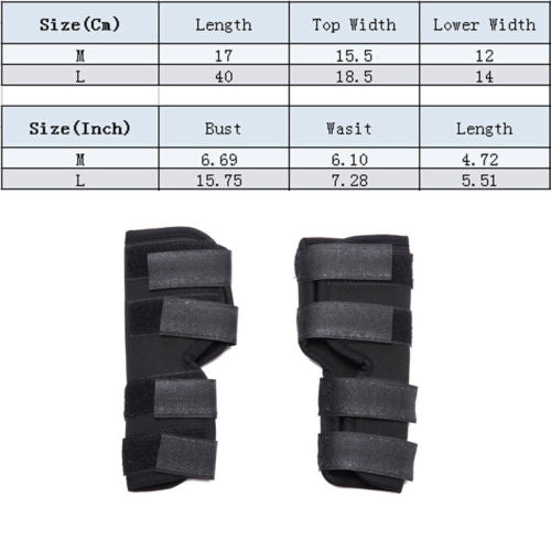 1Pair Pet Dog Solid Knee Pads Support For Leg Injury Legs Brace Safety Hock Joint Brace Wrap Protectors
