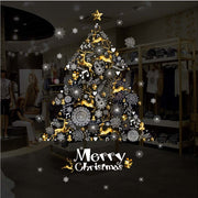 1Pc Christmas Wall Stickers Deer Christmas Tree Shop Window Decoration Festival Home Decor 60x90cm