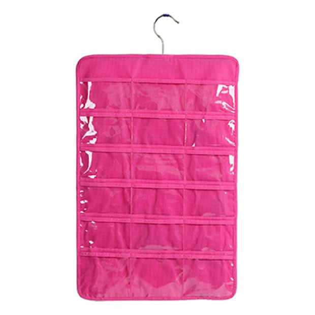 1Pc Hanging Storage Bag Non-woven Jewelry Earrings Bracelet Necklaces Dress Chains Handbag Holder Organizer Display Bag