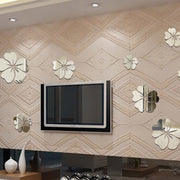 1Set DIY Flower Wall Sticker 3D Mirror Removable Decal Home Decor For Living Room