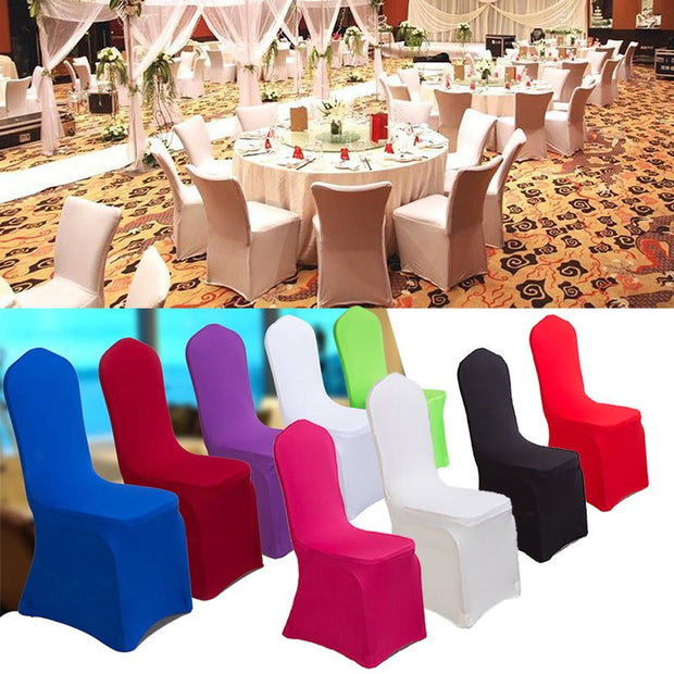 1pc 16 Colors Universal Stretch Polyester Spandex Chair Covers For Party Weddings Banquet Hotel Decoration Decor Funda Silla