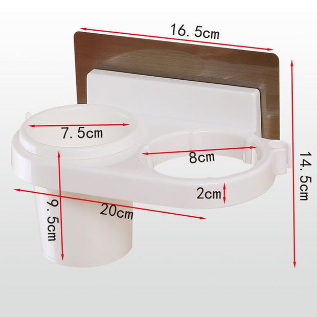 1pcs Home Storage Holder Sucker Hair Dryer Racks Bathroom Shelves Wall Hanging Comb Cosmetic Toothbrush Toothpaste Organizer