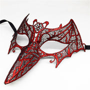 1pcs New Style Fashion Sexy Red Lace Eye Mask Venetian Masquerade Ball Party Fancy Dress Costume Lady Gifts Party Bird Masks