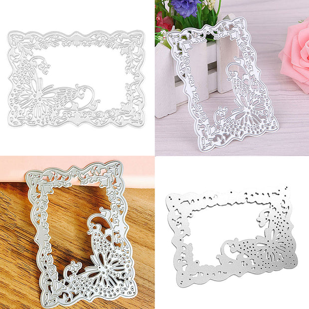1pcs Rose&leaves Metal Cutting Dies Scrapbooking Stencils DIY Album Cards Decor Photo Frame Decoration