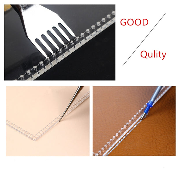 1set DIY Home Sewing Acrylic Leather Template Stencil Shoulder Bag Handbag Sewing Pattern Stencil Template 18*12.5*6cm