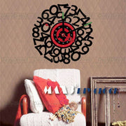 1x Wholesale Large Frameless DIY Wall Stickers Clock Creative MDigital Camp Designer Decor Mural Art 10A209 MAX3 Room Decors