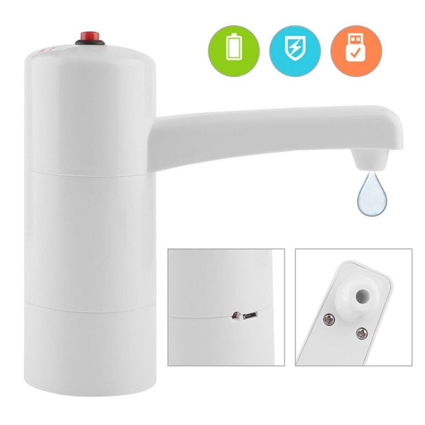 2 Colors Electric Wireless Rechargeable Mineral Barrelled Water Bottles Dispenser Suction Pump Kitchen Tools Electric Water Pump