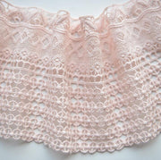 2 Meters 100% Cotton Lace Trim Water Soluble Embroidery Cotton Lace DIY Ivory Pink Lace Fabric Clothing Accessories 11.5cm