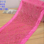 2 Meters 21.5cm Width Lace Handmade Patchwork Material Hot Lace Ribbon Elastic Lace Trim DIY Sewing Home Decoration