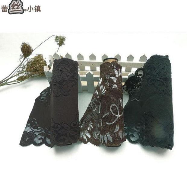 2 Meters Elastic Lace Trimming For Underwear Wrap Green Coffee Stretch Lace Ribbon Tape DIY Wedding Party Crafts