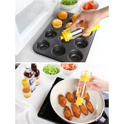 2 In 1 Barbecue Oil Bottles Brush Silicone Oil Brush Pancake BBQ Kitchen Tools MYDING