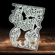 2018 Craft Stamps Die Cut Embossing Card Making Stencil Frame Christmas Lantern Metal Cutting Dies New