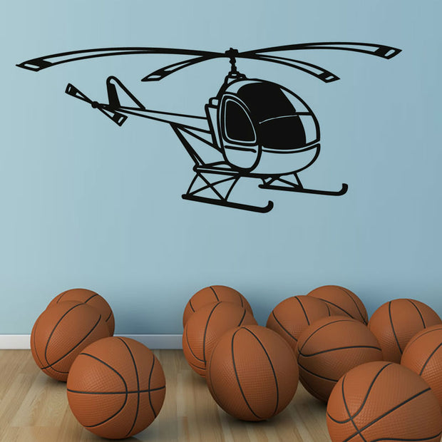 2018 New Neymar Kids Room Vinyl Self Cute Adhesive Helicopter Wall Sticker Removable Hollow Out Transportation Home Decor M627