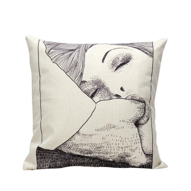 2018 Pillow Case 45*45 Adult Sexy Printing Dyeing Sofa Bed Home Decor Pillow Case Cushion Cover Free Shipping NEW JA8