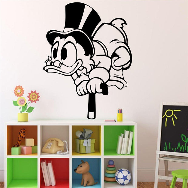 2018 Real Rushed Uncle Scrooge Wall Decal Duck Tales Cartoons Sticker Comics Home Mcduck Decals Housewares Design Custom #t449