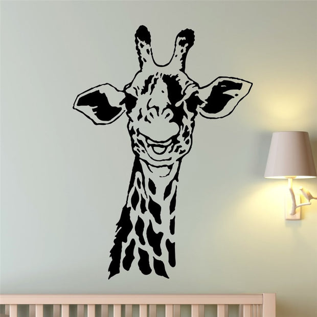 2018 Sale New Free Shipping Wall Stickers, Home Decor Living Room Den Pvc Vinyl Paster, Removable Art Mural Giraffe # T169