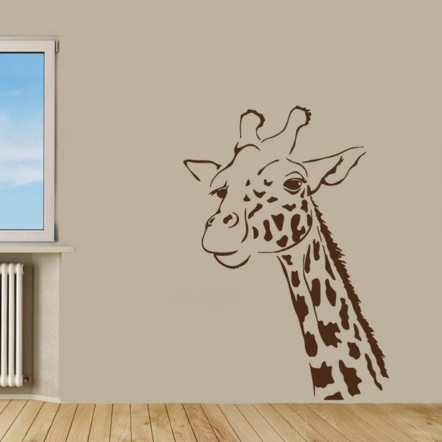 2018 Stickers Neymar Free Shipping Home Interior Removable Decor Wall Decals Giraffe Head Kids Room Viny Sticker Murals M163