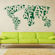 2018 Top Fashion Stickers Art Design World Map Vinyl Wall Sticker Home Decor Decals Removable Diy House For Living Room M818