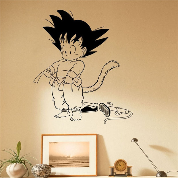 2018 Wall Sticker Dragon Ball Son Goku Wall Decal Vinyl Comics Japanese Anime Home Decoration Art Removable Stickers # T281