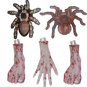 2019 New Halloween Scary Bloody Broken Limbs Hand Foot Pendants Paper Banner Garland Hallowmas Party Decoration Supplies