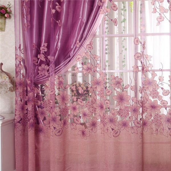 2019 Voile Curtain Window Valance European Lace Curtains Girls Bedroom  Curtains Hot