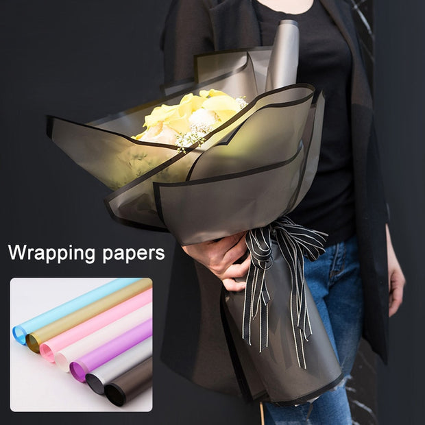 20pcs Flower Packaging Paper Frosted Florist Supplies Handmade Material Bouquet Pack Wrapping Paper Wxv Sale