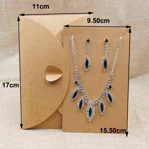 20pcs Kraft Cardboard Large Necklace Packing Wedding