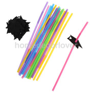 20x Graduation Cap Drinking Straw Disposable Straw Party Decoration