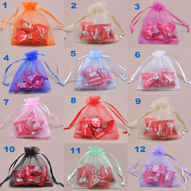 20x30cm Jewelry Packaging Bags Drawable Organza Bags,gift Organza Pouch,gift Bag