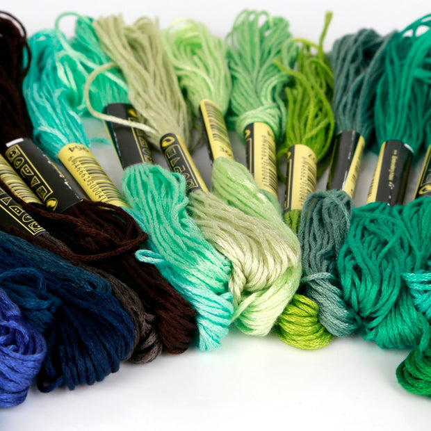 24/36/50/100/150 Colors Professional Sewing DMC Embroidery Floss Cross Stitch Thread Similar Cross-stitch Kit DIY Sewing Skeins