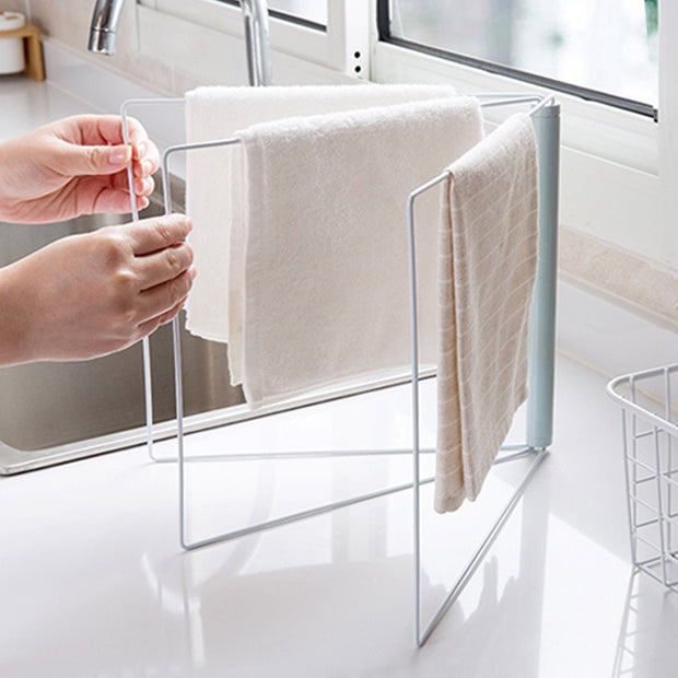 24.5*28cm Folding Dish Towels Drying Rack Kitchen Organizer Towel Rack  Holder 2019 New Nordic Metal Storage Racks & Holders