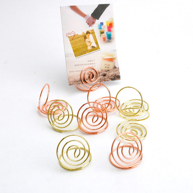 Office & School Supplies 24 Pcs Table Number Holders Ring Shape Card Holder Circle Stereo Note Pad Menu Clips