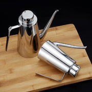 250/500ml/700ml Stainless Steel Oil Vinegar Dispenser Oil Pot Leak-proof Sauce Bottle Kitchen Healthy Cooking Tools With Lid