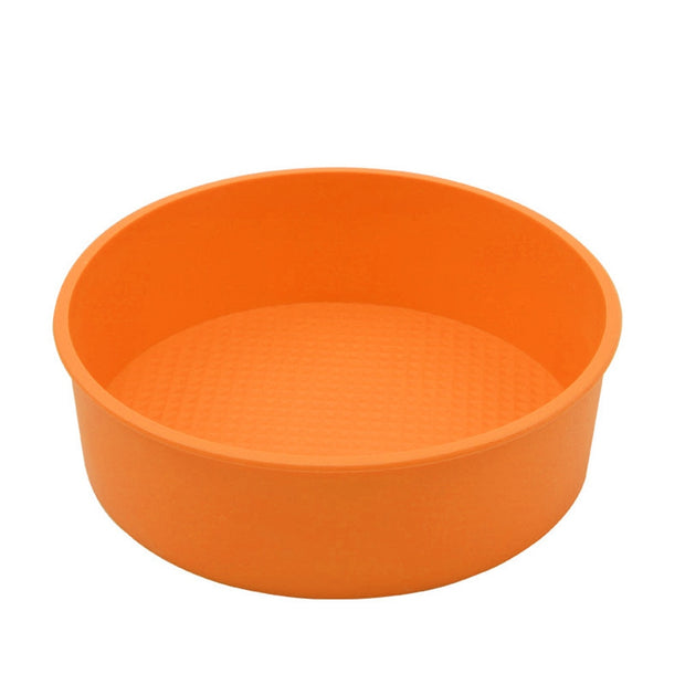 26CM Round Silicone Cake Mold Oven Baking Pan Pizza Mould Circle Mousse Cake Pancake Maker Holder Kitchen Dinning Pastry Tool